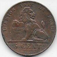 Belgique - 5 Cent  1849 - 03. 5 Centimes