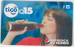 GUATEMALA -  Pepsi Refresca Tu Mundo Woman ,Tigo GSM Refill, Used - Guatemala