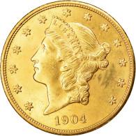 Monnaie, États-Unis, Liberty Head, $20, Double Eagle, 1904, U.S. Mint - L. Gold