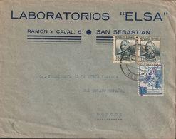 1933-CARTA-Edifil: 683(2), CRUZADA CONTAR EL FRIO. SAN SEBASTIAN A BURGOS. Censuras - 1931-50 Briefe U. Dokumente
