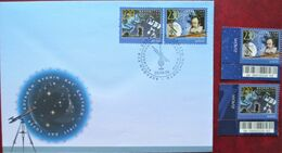 Kazakhstan  2009  Space, Astronomy ,Europa   2 V. MNH + FDC - Europa-CEPT