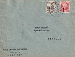1933-CARTA-Edifil: 687, CRUZADA CONTRA EL FRIO. VITORIA A SEVILLA. Llegada - 1931-50 Briefe U. Dokumente