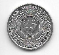 *netherlands Antilles  25  Cents  1989  Km 35    Bu/ms65 - Antillen (Niederländische)