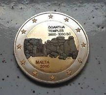 MALTE 2016 - GGANTIJA -  2 EURO COMMEMORATIVE - COULEUR - FARBE - COLORED - COLOR - COLORISEE - COULEURS - Malta