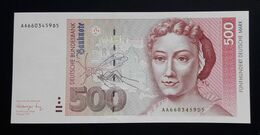 Germany 500 DM Mark 1991 UNC AA - [ 7] 1949-… : RFD - Rep. Fed. Duitsland