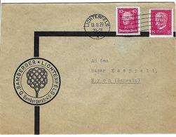 ALLEMAGNE 1929: LSC  De Lichtenfels Pour Nyon (Suisse) Affr. à 25 Pf Avec Obl. Sur TP Perforés De 10 Pf. Et 15 Pf. - Covers & Documents