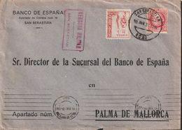 1932-CARTA-Edifil: 687, CRUZADA CONTRA EL FRIO. BARCELONA A PALMA. Censuras Y Llegada - 1931-50 Briefe U. Dokumente