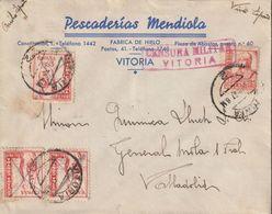 1937-CARTA-Edifil: 823, CRUZADA CONTRA EL FRIO. VITORIA A VALLADOLID. Censuras - 1931-50 Briefe U. Dokumente