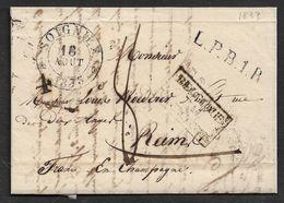 1835 ( 10 Juillet ) FRAMERIES A AVESNES - Belgique / Par / Valenciennes - L.P.B.1.R - 1830-1849 (Unabhängiges Belgien)