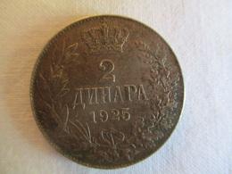 Serbie (Yougoslavie) 2 Dinar 1925 - Serbia