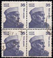 INDIA - Scott #844 Jawaharlal Nehru / Block Of 4 Used Stamps (bk1145) - Blocks & Kleinbögen