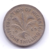NIGERIA 1959: 1 Shilling, KM 5 - Nigeria
