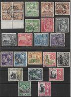 MALTA 1938 - 1943 SET SG 217/231 FINE USED Cat £45 - Malta (...-1964)
