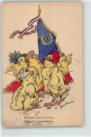 53024223 - Sign. Santini, C. Kueken Personifiziert Franzoesische Propaganda - Künstlerkarten