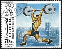 Fujeira 1972 - Mi 1115 - YT Xxx ( Munich Olympics : Weightlifting ) Airmail - Pesistica