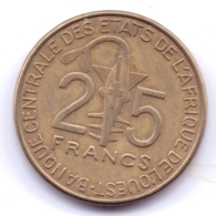 AFRIQUE DE L'OUEST 2011: 25 Francs, FAO, KM 9 - Monedas