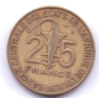 AFRIQUE DE L'OUEST 1990: 25 Francs, FAO, KM 9 - Monedas