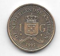 *netherlands Antilles  1 Gulden  1992   Km 37    Bu/ms65 - Antillen (Niederländische)