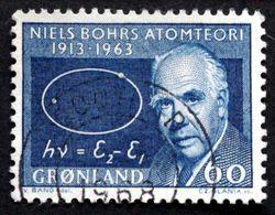 Greenland   1963   50 Th Anniversary Of Niels Bohr`s Atom Theory  MiNr.63  (O) ( Lot D 2665 ) - Usados