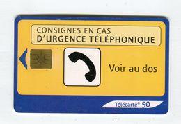 Telecarte 50u °_ 1274B-Urgence  2-Gem2-05.03-6004- R/V - France
