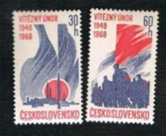 "CECOSLOVACCHIA (CZECHOSLOVAKIA) - SG 1721.1722  - 1968 ""VICTORIOUS FEBRARY"" ANNIVERSARY (COMPLET SET OF 2)     - MINT** - Czechoslovakia"