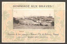 Carte P ( Fribourg / Hommage Aux Braves / Souvenir De Leur Passage à Romont 1915 ) - FR Fribourg
