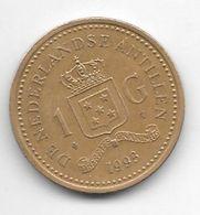 *netherlands Antilles  1 Gulden  1993   Km 37    Bxf+/ms60 - Antillen (Niederländische)