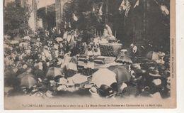 CPA BADONVILLER ANNIVERSAIRE DU 12 AOUT 1914  LA MESSE DEVANT LES RUINES - Frankreich