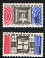 CECOSLOVACCHIA (CZECHOSLOVAKIA) - SG 1730.1731  - 1968  NATIONAL RADIO & TELEVISION ANNIV. (COMPLET SET OF 2) - MINT** - Czechoslovakia
