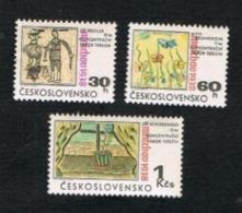 CECOSLOVACCHIA (CZECHOSLOVAKIA) - SG 1767.1769  - 1968  MUNICH AGREEMENT ANNIVERSARY (COMPLET SET OF 3) - MINT** - Czechoslovakia