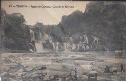 Indochina Indochine Vietnam Tonkin Vintage Postcard : Region De Caobang Cascade De Ban Giot - Viêt-Nam