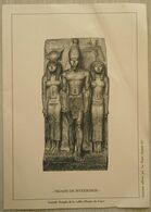Gravure Triade De Mykérinos  L. Arquer - Documents De La Poste