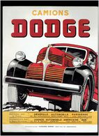 PLAQUETTE PUBLICITAIRE CAMION DODGE MODELES 1947 SERIE WC WD WF WH WJ WK WR CAMIONS POIDS LOURDS - Trucks