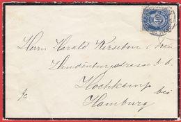 """NORWAY - Mourning Letter (Mi# 103-NK# 125), Railway Canc.""""Bureau Reexp. De Kristiania I 18.VIII.24"""" To Hamburg (2 Scans) - Norwegen"""