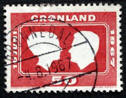 Greenland  1967 Royal Wedding  MiNr.67 GRØNNEDAL 4-8-1967   ( Lot D 2677 ) - Grèce