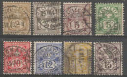Switzerland 1882 Year , Used Stamps Mi # 50-57 Set - Used Stamps
