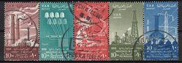 EG105Bis – EGYPTE – EGYPT – 1958 – 6th ANNIVERSARY OF THE REVOLUTION – MI 542/45 USED - Gebruikt