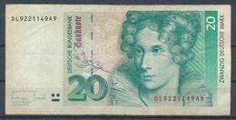 °°° GERMANY 20 MARK 1993 °°° - [ 7] 1949-… : RFD - Rep. Fed. Duitsland