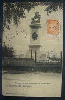 CP. 3212. Chiffre 1c Orange N°108. Belle Oblitération Centrale De Genappe 1913 Sur CP - 1893-1907 Armoiries
