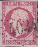 France .    Yvert       .   17B  (2 Scans) Signé    .         O     .       Oblitéré  .   /   .   Cancelled - 1853-1860 Napoléon III