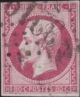 France .    Yvert       .   17A  (2 Scans)     .         O     .       Oblitéré  .   /   .   Cancelled - 1853-1860 Napoléon III