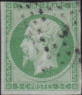 France .    Yvert       .   12  (2 Scans)   .         O     .       Oblitéré  .   /   .   Cancelled - 1853-1860 Napoléon III