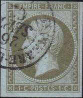 France .    Yvert       .   11  (2 Scans)   .         O     .       Oblitéré  .   /   .   Cancelled - 1853-1860 Napoléon III
