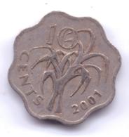 SWAZILAND 2001: 10 Cents, KM 49 - Swasiland
