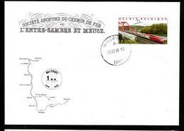150ème Anniversaire De La Ligne De CHEMIN DE FER - CHARLEROI-MORIALME - Covers & Documents