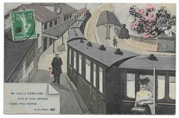 78 ME VOICI A CONFLANS  Gare Train - Conflans Saint Honorine