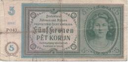 Böhen Und Mähren : 5 Korun - Tschechoslowakei