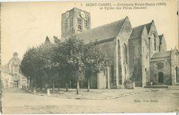 Mont Cassel 1935; Collégiale Notre-Dame Et Eglise Des Pères Jèsuites - Voyagé. (Van Eecke) - Cassel