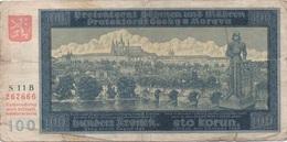 Böhen Und Mähren : 100 Korun 1940 - Tschechoslowakei