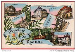 CPA 42 ROANNE Souvenir De . Multivues 7 Vues - Roanne